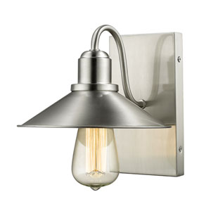 Casa Brushed Nickel One-Light Vanity Fixture
