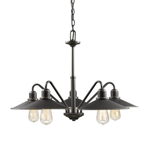 Casa Olde Bronze Five-Light Chandelier