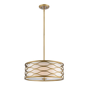 Severine Old Gold Four-Light Drum Pendant