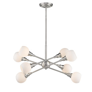 Tian Brushed Nickel 32-Inch Eight-Light  Pendant