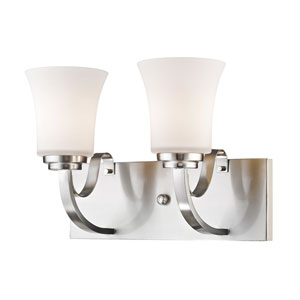 Halliwell Brushed Nickel Two-Light Vanity