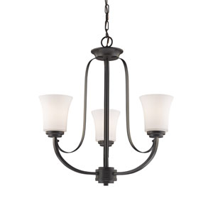 Halliwell Bronze Three-Light Chandelier