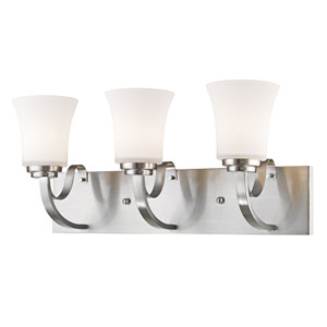 Halliwell Brushed Nickel Three-Light Vanity