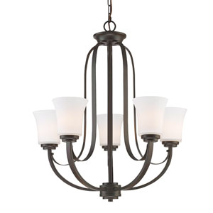 Halliwell Bronze Five-Light Chandelier