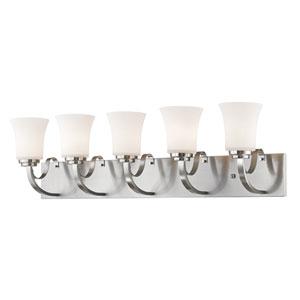 Halliwell Brushed Nickel Five-Light Vanity