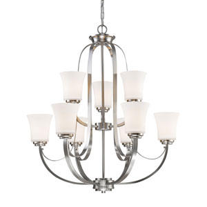 Halliwell Brushed Nickel Nine-Light Chandelier