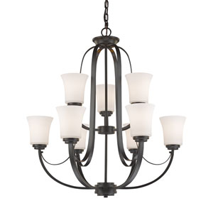 Halliwell Bronze Nine-Light Chandelier