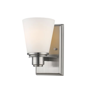 Kayla Brushed Nickel One-Light Wall Sconce