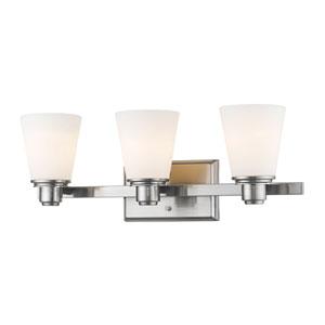 Kayla Brushed Nickel Three-Light Vanity