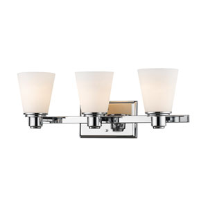 Kayla Chrome Three-Light Vanity