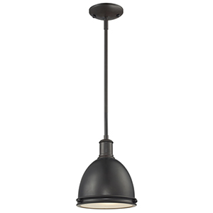 Mason Bronze One-Light Mini Pendant with Bronze Shade