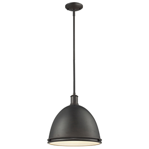 Mason Bronze One-Light Pendant with Bronze Shade