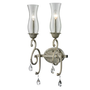 Melina Golden Bronze Two-Light Wall Sconce