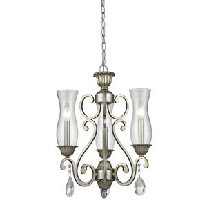 Melina Antique Silver Three-Light Chandelier