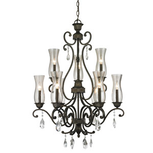Melina Golden Bronze Nine-Light Chandelier