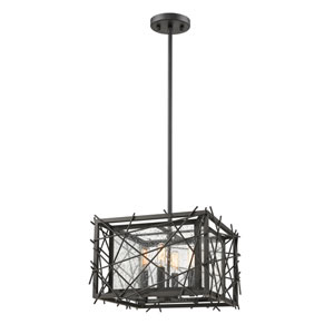 Stanwood Bronze 14-Inch Four-Light Pendant