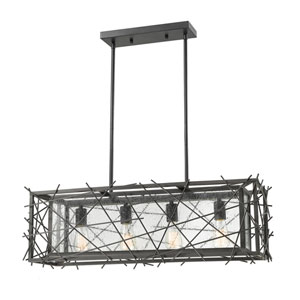 Stanwood Bronze Four-Light Linear Pendant