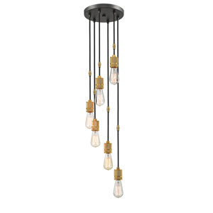 Troubadour Bronze Six-Light Mini Pendant