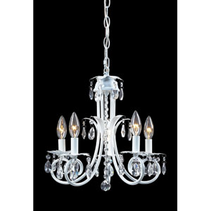 Pearl White Five-Light Crystal Mini Chandelier