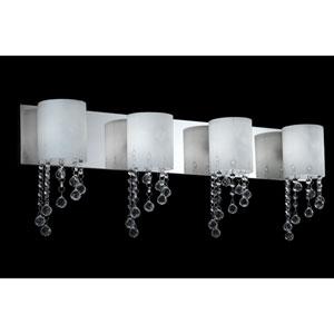 Jewel Chrome Four-Light LED Bath Vanity