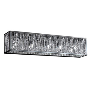 Terra Chrome Five-Light LED Bath Vanity