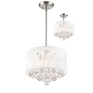 Aura Brushed Nickel Four-Light Pendant