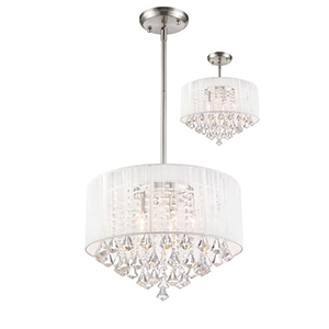 Aura Brushed Nickel Five-Light Pendant