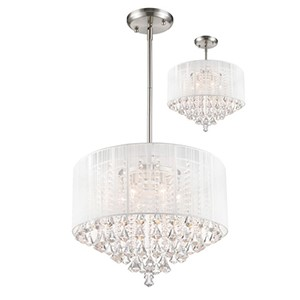 Aura Brushed Nickel Six-Light Pendant