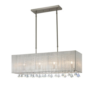 Aura Brushed Nickel Four Light Island/Billiard Light