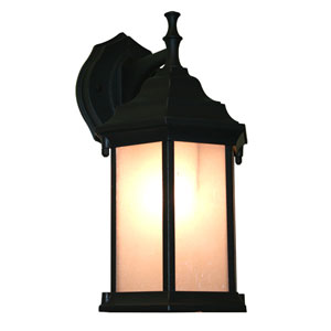 Waterdown Black 12-Inch One Light Outdoor Wall Mount