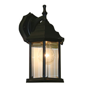 Waterdown Black 6 x 12-Inch One Light Outdoor Wall Mount