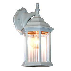 Waterdown White One Light Outdoor Wall Mount