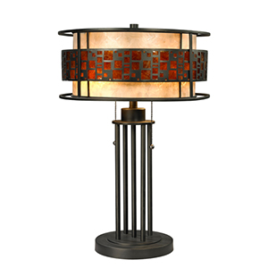 Oak Park Bronze Two-Light Table Lamp