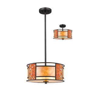 Parkwood Bronze 14-Inch Three-Light Pendant