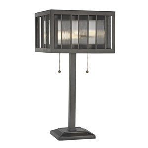 Meridional Bronze Two-Light Table Lamp