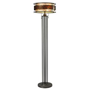 Oak Park Bronze Three-Light Floor Lamp