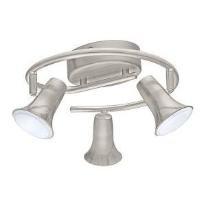 Jumilla Matte Nickel Three-Light LED Track Light with Matte Nickel Metal Shade