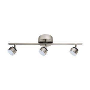 Armento 1 Matte Nickel Three-Light LED Track Light