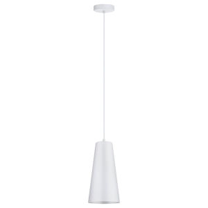 Pratella 1 White One-Light Mini Pendant with White Metal Shade