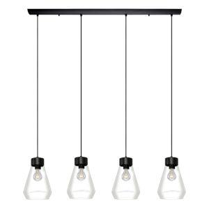 Montey Matte Black Four-Light Pendant