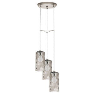 Estevau Satin Nickel 11-Inch Three-Light Pendant