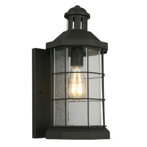San Mateo Creek Matte Black Eight-Inch One-Light Outdoor Wall Sconce