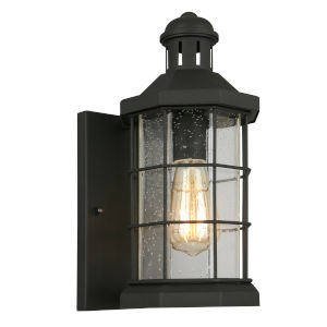 San Mateo Creek Matte Black Six-Inch One-Light Outdoor Wall Sconce