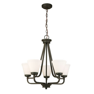 Mayview Matte Bronze Five-Light Chandelier