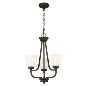 Mayview Matte Bronze Three-Light Chandelier