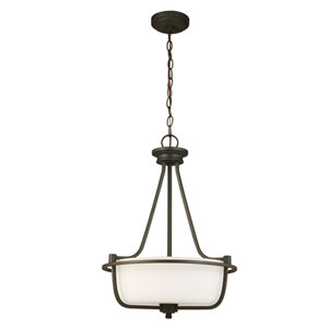 Mayview Matte Bronze Three-Light Pendant