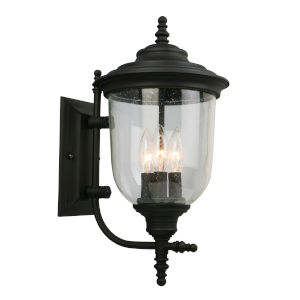 Pinedale Matte Black Nine-Inch Three-Light Outdoor Wall Sconce