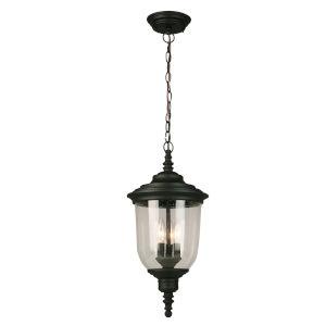 Pinedale Matte Black Three-Light Outdoor Pendant