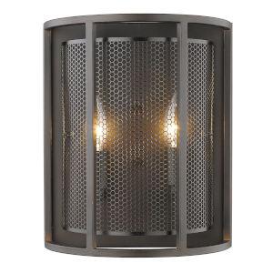 Verona Steel Two-Light Wall Sconce