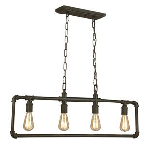 Wymer Matte Bronze Four-Light Chandelier